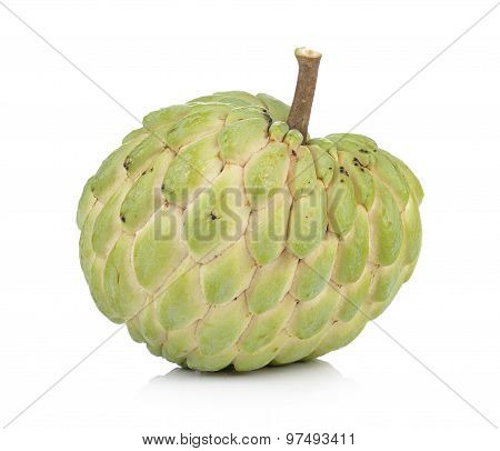 Custard Apple On White Background