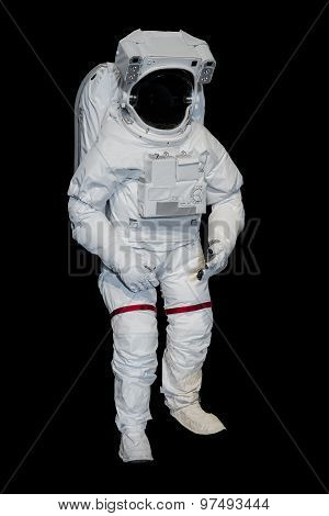 An Isolated Astronaut suit on black background