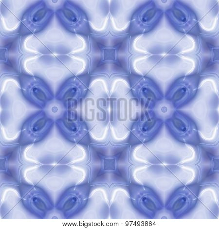 Seamless Kaleidoscopic Glossy Pattern In Blue