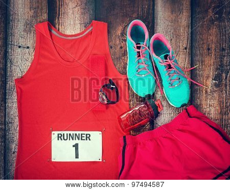 Running Gear Laid Out Ready For Race Day