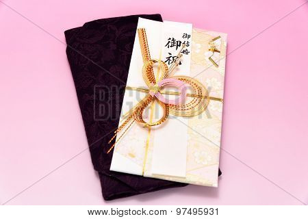 Japanese Gift Envelope And Crape Wrapper.