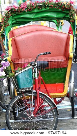 Traditional Cycle Rickshaw In Taiwan