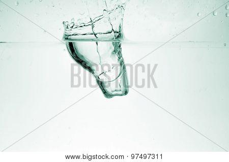 Ice Cube In  Liquid