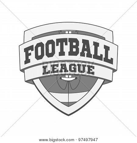 Design Of White Football Label