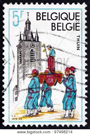 Postage Stamp Belgium 1979 Belfry, Thuin