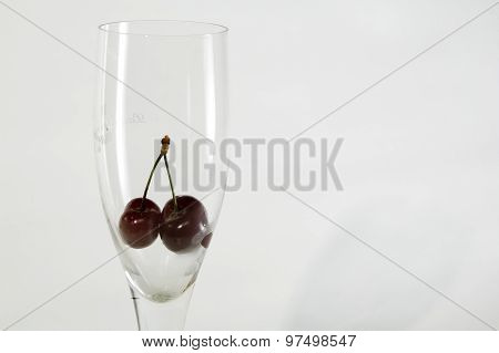 Glass With Cherry In It