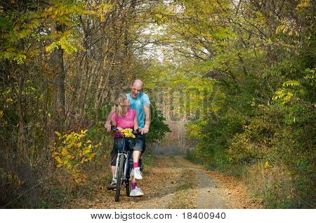 two cyclist relax biking outdoors