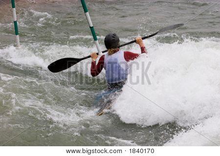 Slalom de aguas bravas