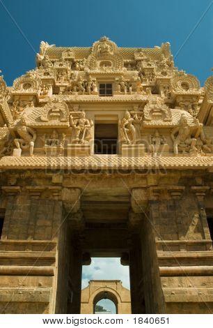 Entrance Gopuram Of The Brihadeeswarar Temple In Tanjore