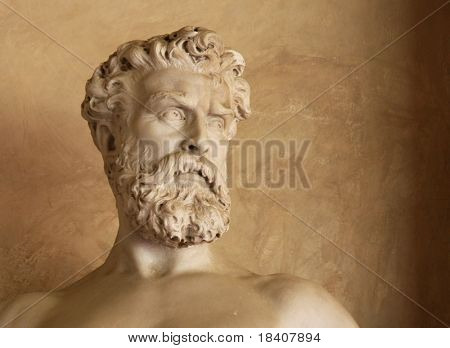 bust of an antique man