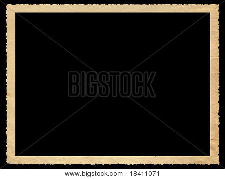 empty photo frame isolated on black background