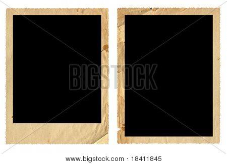 Marcos de fotos antiguas aislados en blanco