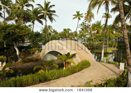 Resort Walkway And Bridge