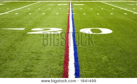 American Football Over The Field