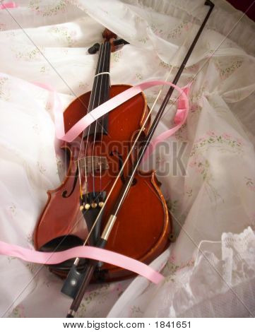 Violin And A White Dress
