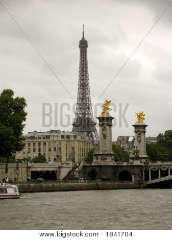 Eiffel Tower And Pont Alexandre Iii In Paris