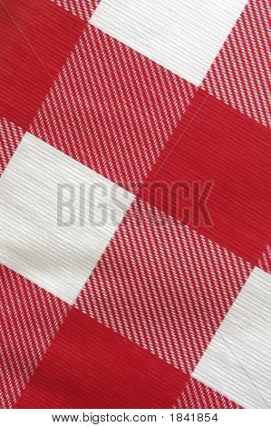 Close Up Of A Picnic Table Cloth