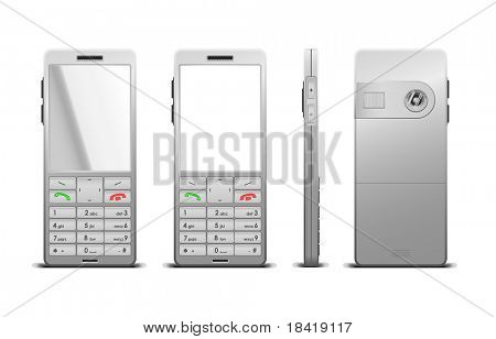 Illustration of a photorealistic cellphone. Vector in my portfolio