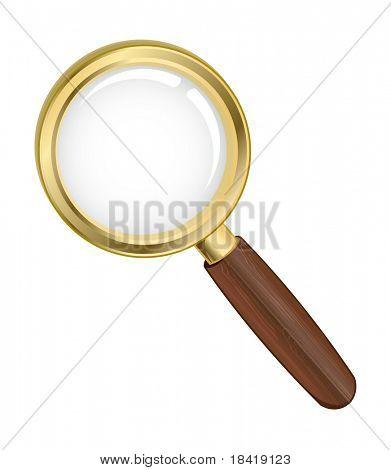 Illustration of a search icon. Vector in my portfolio