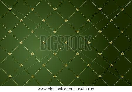 Ilustración de vector de verde y oro vintage wallpaper