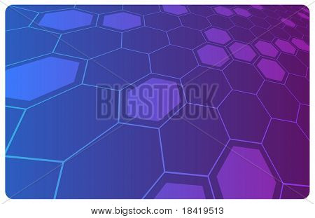 Vector violet abstract hi-tech illustration for science or business background