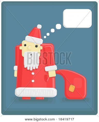 Vector illustration of funny Santa Claus