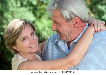 Woman Hugging A Man