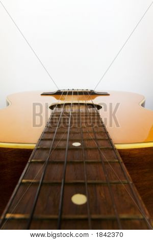 Guitar With Space At Top Of Image For Designers