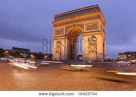 Arc de Triomphe. Paris, France
