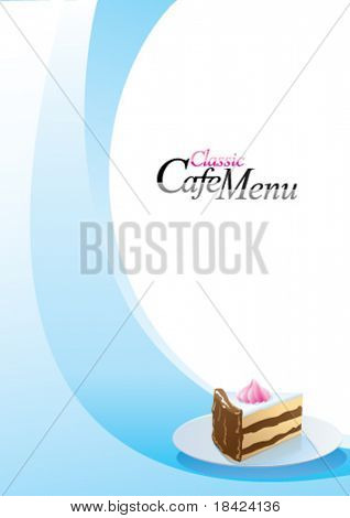 Classic cafe menu cover template