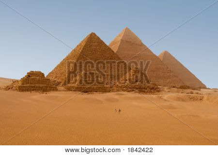 Egyptian Pyramids In Giza Egypt