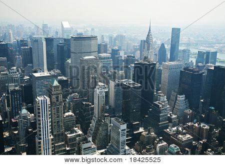 Manhattan skyline in New York taken from the Empire State Building