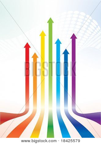 Colourful vector arrows