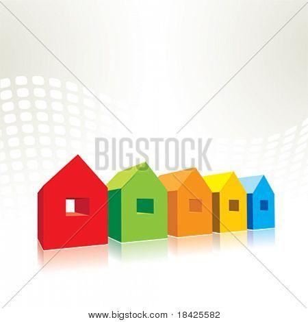 小矢量房子 库存矢量图和库存照片
