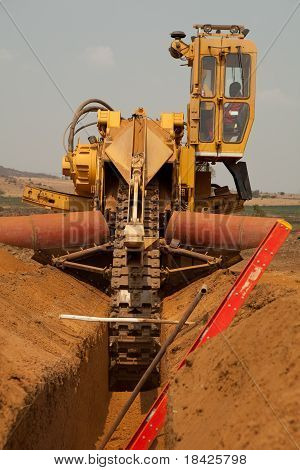 Trencher Machine, Trench And Ladder