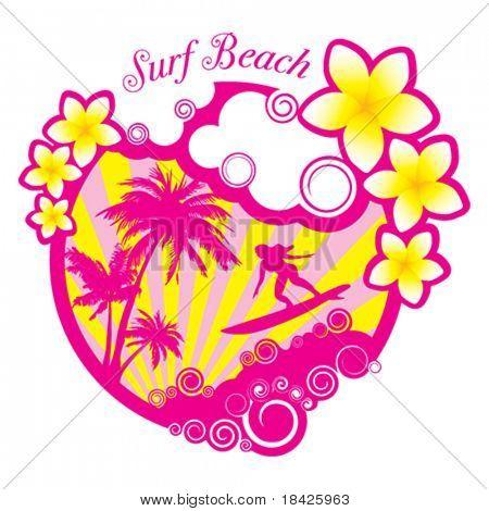 Vertor Surf Beach illustration