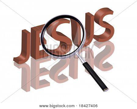 Jesus-Ikone Jesus Schaltfläche finden Jesus Jesus Erlösung glauben suchen Christ Lupe größer werdenden p