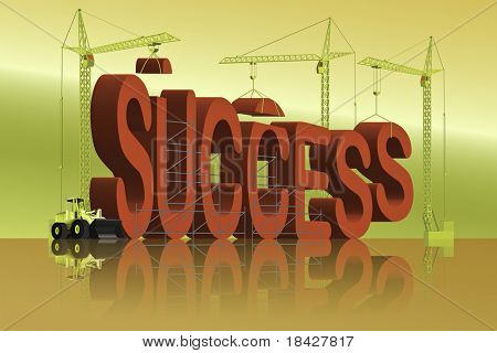 success be a winner reach a goal victory in business or win a sport game successful in career or financial