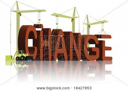 mudar o mundo fazer as coisas melhor e melhorar, resolver problemas e alcançar o sucesso vermelho palavra 3D