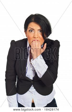Stressed And Furious Business Woman