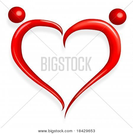red love heart happy valentines day abstract couple holding hands love birds romantic symbol silhouette
