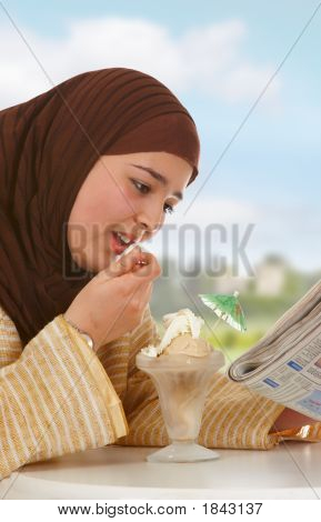 Newspaper And Ice Cream