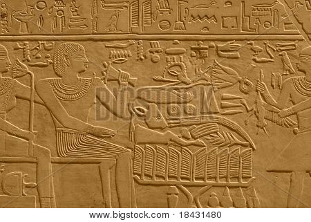 An ancient egyptian relief.
