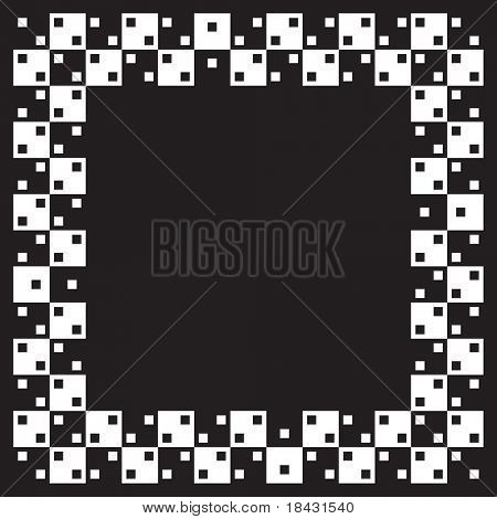 Visual illusion.Vector illustration. Squares are same size and parralel. When image smaller distortion of image in our eyes is stronger.