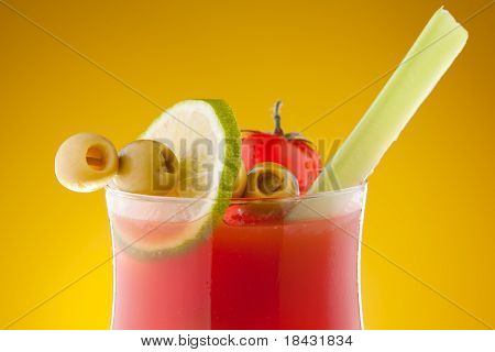 Close-up Of Bloody Mary Cocktail