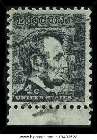 USA - CIRCA 1930: A stamp printed in USA shows Portrait President Abraham Lincoln circa 1930.