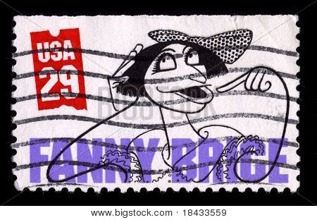 USA - CIRCA 1980: A stamp printed in USA shows image of the dedicated to the Fanny Brige circa 1980.