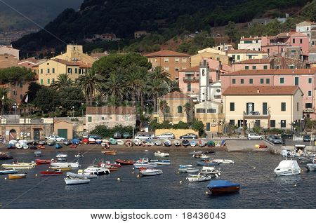 italy - isola d'elba - porto azzurro