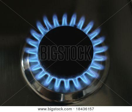 Küche Gas Flamme-3