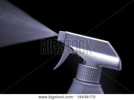 Spray bottle - detail over black